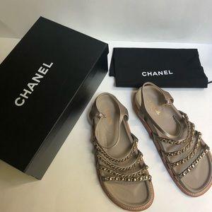 Chanel Chain Strap Sandals